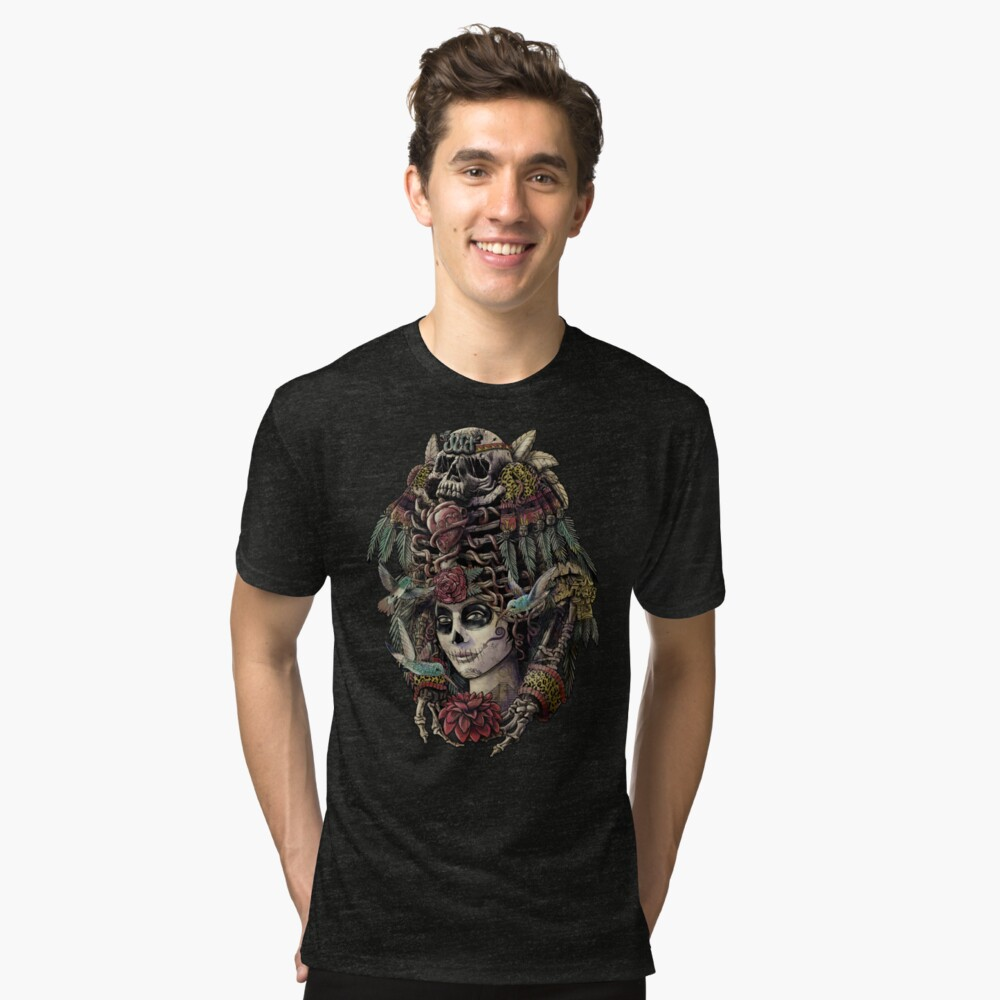 Day of the Dead (Ancient Guardians) Tri-blend T-Shirt Front