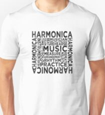 Harmonica Typography Unisex T-Shirt