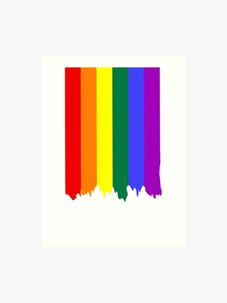 783247e5e88 LGBT Gay Pride Rainbow Drip Paint