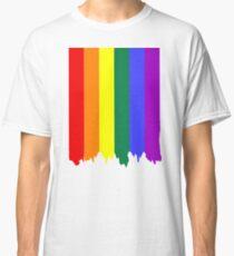 LGBT Gay Pride Rainbow Drip Paint Classic T-Shirt
