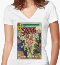 Geek Night Women's Fitted V-Neck T-Shirt