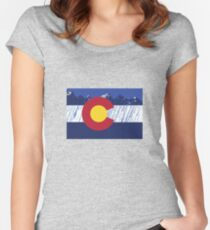 Colorado Rain Flag Women's Fitted Scoop T-Shirt