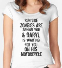 Run Like Daryl Is Waiting Women's Fitted Scoop T-Shirt