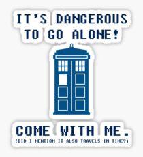 It's Dangerous To Go Alone Take Tardis Sticker