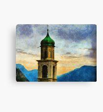 Chiesa di San Benedetto, Limone Sul Garda, Italy Canvas Print