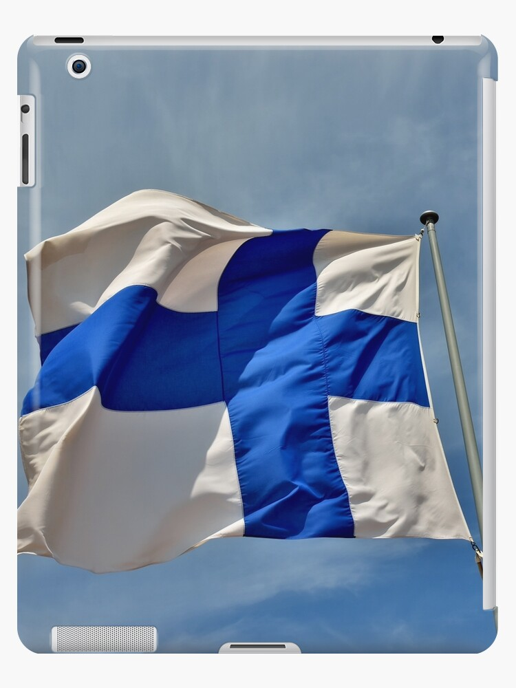 Flag of Finland on blue sky by skyfish