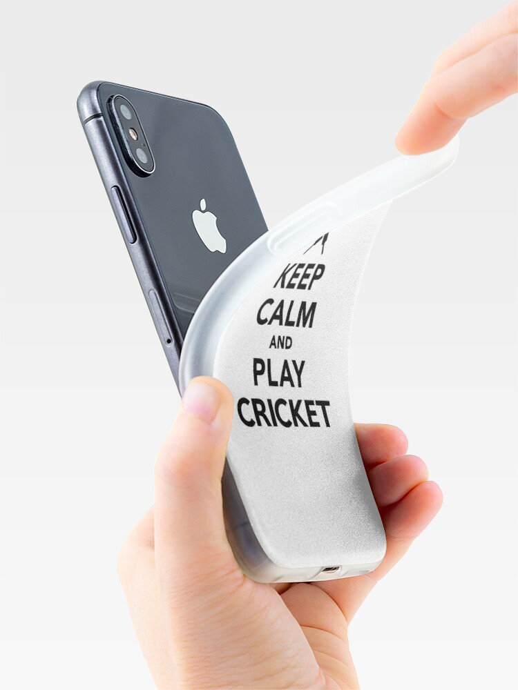 Alternate view of Keep calm and play Cricket iPhone Case & Cover