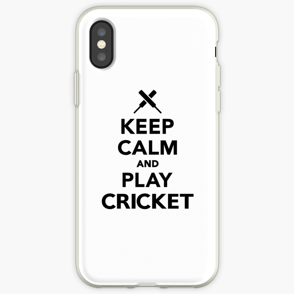 Keep calm and play Cricket iPhone Case & Cover