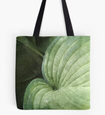 Blue Green Hosta Leaf Tote Bag
