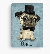 Pug; Gentle Pug (v3) Canvas Print