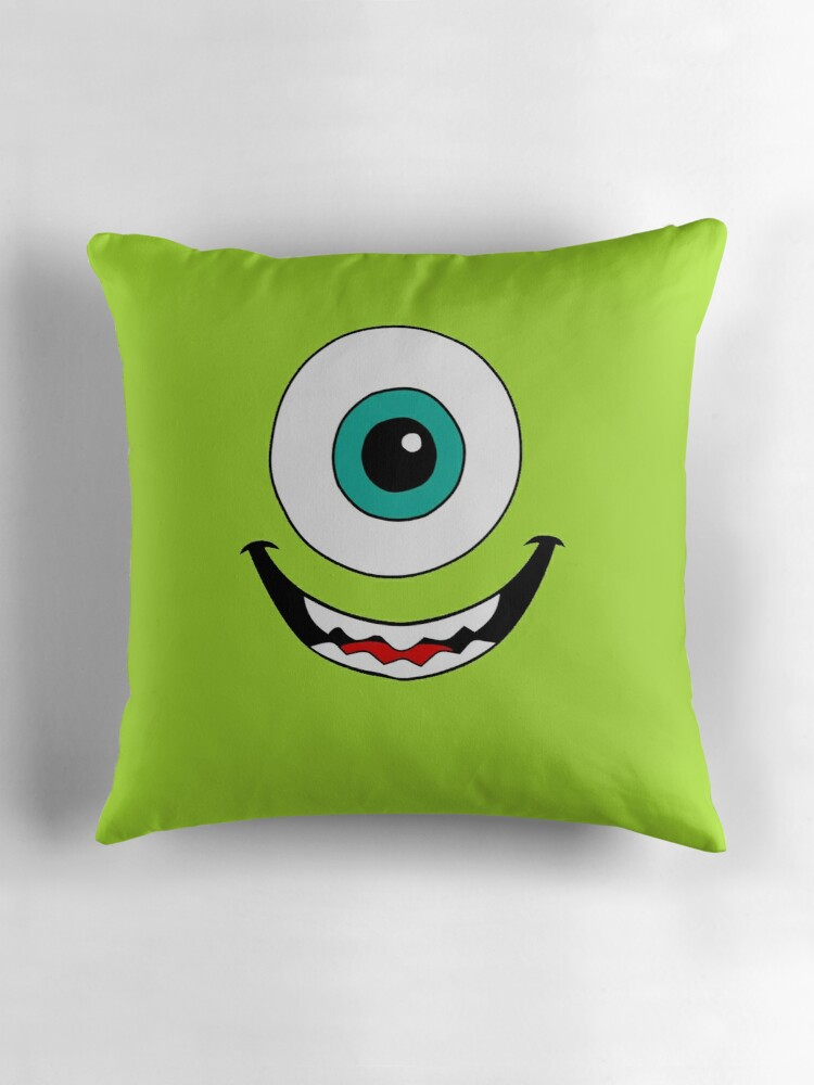 Quot Mike Wazowski Quot Throw Pillows By Hiddencorner Redbubble
