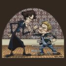 Sherlock analyzes Watson by Kenny Durkin
