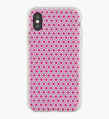 Pink kitsch flower pattern  iPhone Case