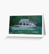 Waterfalls between the Trees Greeting Card