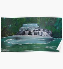Waterfalls between the Trees Poster