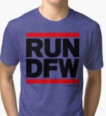 Run Dallas-Ft. Worth DFW (v1) Tri-blend T-Shirt