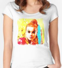 Psychedelic Red Head Women's Fitted Scoop T-Shirt