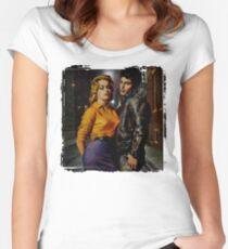 Teenage Angst Street Scene Women's Fitted Scoop T-Shirt