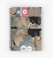 billyteddy cute boyfriends <3 Spiral Notebook