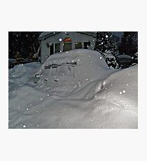 I Believe There Is A Vehicle Under That Snow Drift Photographic Print