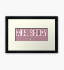 Mrs. Spooky - The X-Files Framed Print