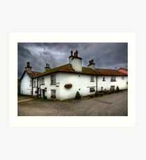 Brown Cow Cottages Art Print