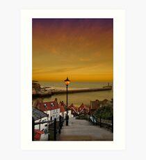 Whitby Sunset Art Print