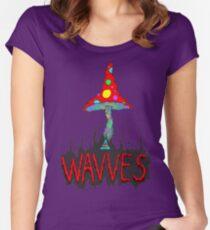 MushrOom Wavves Women's Fitted Scoop T-Shirt