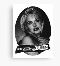Lindsay Lohan 'God Save the Queen' Canvas Print
