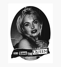 Lindsay Lohan 'God Save the Queen' Photographic Print