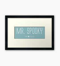 Mr. Spooky - The X-Files Framed Print