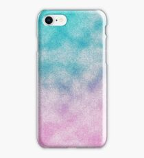 Cloudy Pink and Aqua iPhone Case/Skin