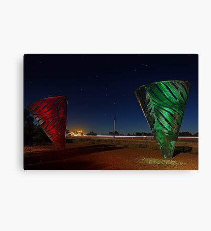 Water Dance Sculptures Western Australia  Canvas Print