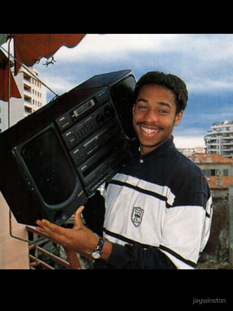 Thierry Henry With A Ghetto Blaster by jaywinston