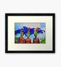 Traditional Dancers Framed Print