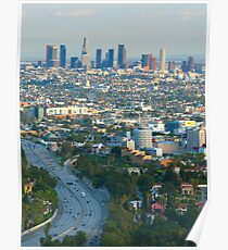 Los Angeles Basin and Los Angeles Skyline 2 Poster