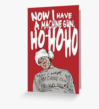 Die Hard alternative Christmas card Greeting Card