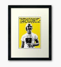 David Wooderson Birthday Card Framed Print