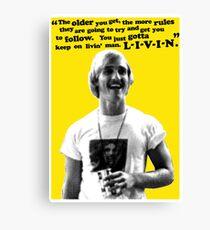 David Wooderson Birthday Card Canvas Print