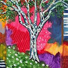 'TREE IN AN ABSTRACT LANDSCAPE #3'  by Jerry Kirk