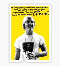 David Wooderson Birthday Card Sticker