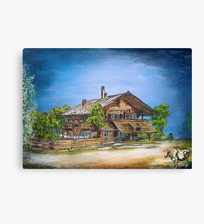 OLD COTTAGE Canvas Print