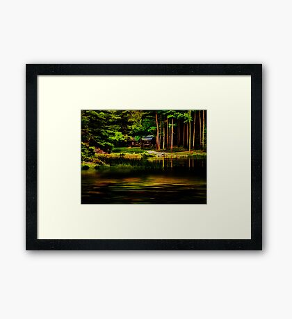 Evening at the Saw Mill Framed Print