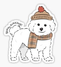 Bichon Freezing! Sticker