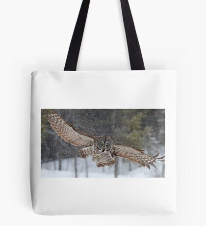 Duck! - Great Grey Owl Tote Bag