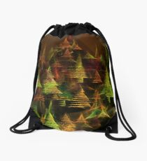 X-mas trees Drawstring Bag