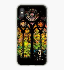 Banksy Stained Glass Window iPhone Case