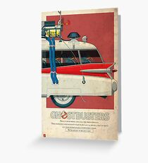 Ecto-1 triptych III of III Greeting Card