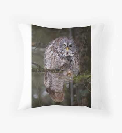 Silence! I keel you! - Great Grey owl Throw Pillow
