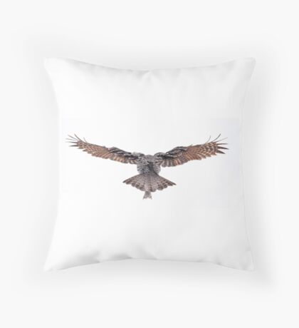 Wingspan - Great Grey Owl Throw Pillow